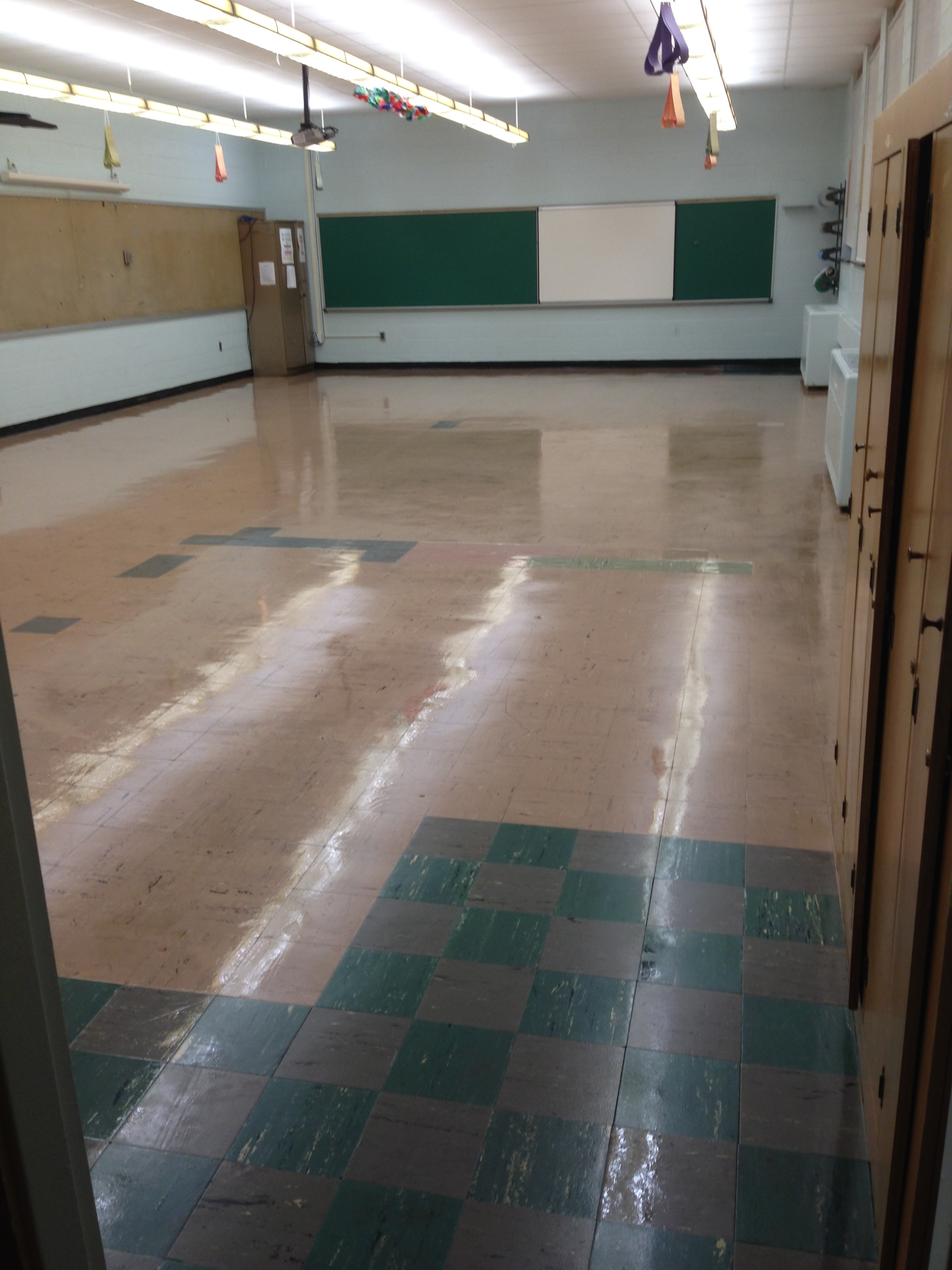 Eastlake middle school maintenance the main problem in these areas included tiles lifting and separating from the floor from years of wear and tear dailygadgetfo Choice Image